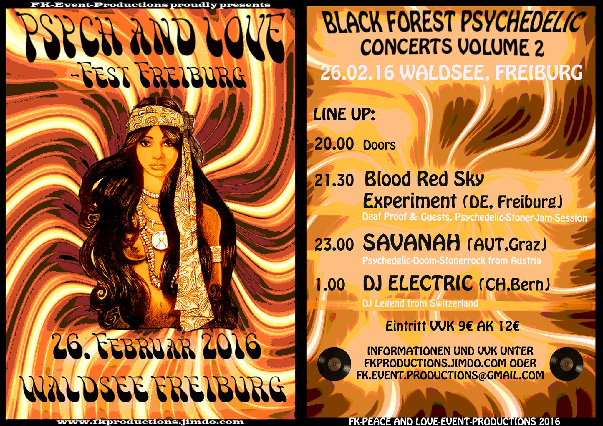 1st Psych and Love Fest Freiburg 2016 Flyer